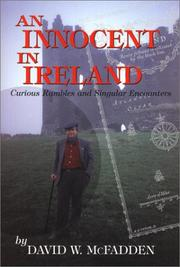 Cover of: An innocent in Ireland | David McFadden