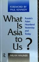 What is Asia to us? by Milan Hauner