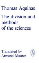 Cover of: The division and methods of the sciences