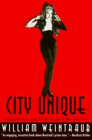 Cover of: City Unique | William Weintraub