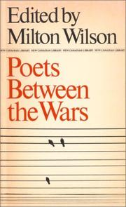 Cover of: Poets Between the Wars | Milton Wilson