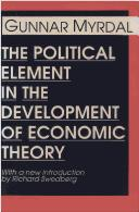 Cover of: The political element in the development of economic theory