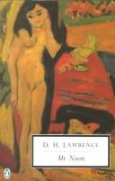 Cover of: Mr Noon | D. H. Lawrence