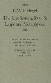 Cover of: The Jena System, 1804-5: logic and metaphysics