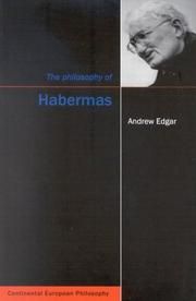 Cover of: The Philosophy of Habermas (Continental European Philosophy)