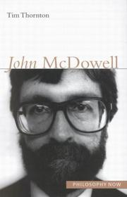 Cover of: John Mcdowell (Philosophy Now (McGill-Queen