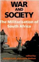 Cover of: War and society |