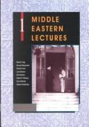 Cover of: Middle Eastern lectures. |
