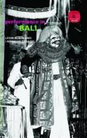 Cover of: Performance in Bali
