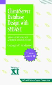 Cover of: Client/Server Database Design with SYBASE