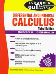 Cover of: Schaum's outline of theory and problems of differential and integral calculus