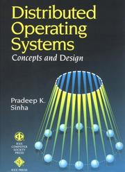 Cover of: Distributed Operating Systems
