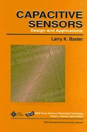 Cover of: Capacitive sensors