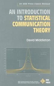Cover of: An introduction to statistical communication theory