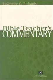 Cover of: Bible teacher's commentary