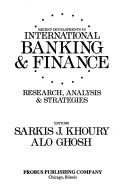 Cover of: Recent developments in international banking and finance |