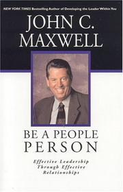 Cover of: Be a People Person | John C. Maxwell