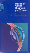 Cover of: Manual of ocular diagnosis and therapy |