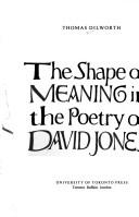 The shape of meaning in the poetry of David Jones by Thomas Dilworth