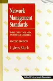 Network Management Standards by Uyless Black