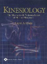 Cover of: Kinesiology | Carol A Oatis