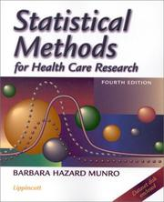 Cover of: Statistical Methods for Health Care Research