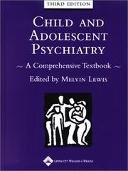 Cover of: Child and adolescent psychiatry |