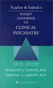 Cover of: Kaplan & Sadock's Pocket Handbook of Clinical Psychiatry