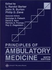 Cover of: Principles of Ambulatory Medicine | L. Randol Barker