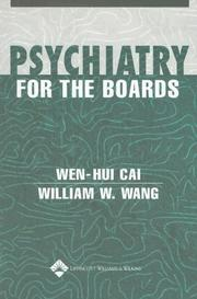 Cover of: Psychiatry for the Boards | Wen-Hui Cai