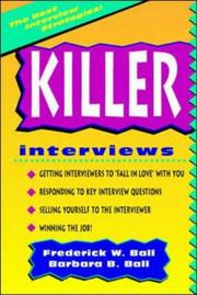 Cover of: Killer interviews | Frederick W. Ball