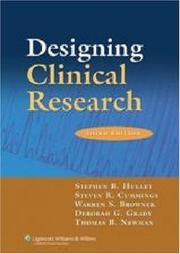 Cover of: Designing clinical research |