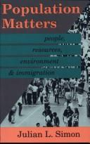 Cover of: Population matters