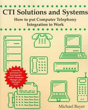 Cover of: CTI solutions and systems