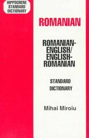 Cover of: Romanian-English, English-Romanian dictionary