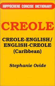 Cover of: Creole-English/English-Creole (Caribbean)