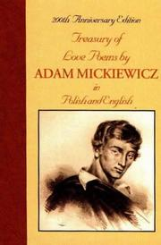 Cover of: Treasury of love poems by Adam Mickiewicz: in Polish and English