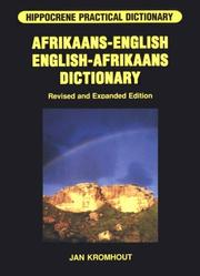 Cover of: Afrikaans-English/English-Afrikaans Dictionary (Hippocrene Practical Dictionary) | Jan Kromhout