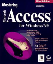 Cover of: Mastering Microsoft Access for Windows 95