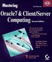 Cover of: Mastering Oracle7 & client/server computing
