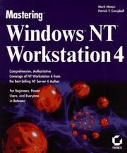 Cover of: Mastering Windows NT Workstation 4