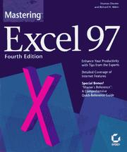Cover of: Mastering Excel 97 | Thomas Chester