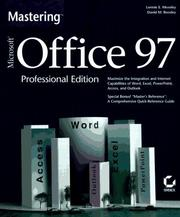 Cover of: Mastering Microsoft Office 97 | Lonnie E. Moseley