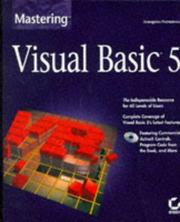 Cover of: Mastering Visual Basic 5 | Evangelos Petroutsos