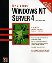Cover of: Mastering Windows NT Server 4