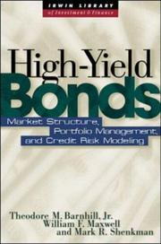 Cover of: High Yield Bonds