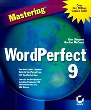 Cover of: Mastering WordPerfect 9