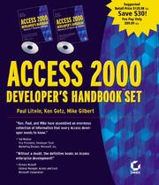 Cover of: Access 2000 Developer