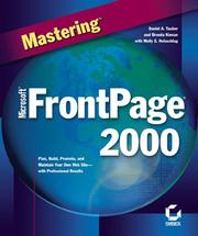 Mastering Microsoft FrontPage 2000 (1999 edition) | Open Library