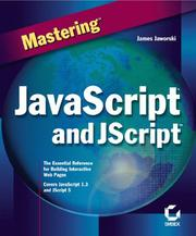 Cover of: Mastering JavaScript and JScript